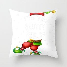 Slutty Elf Matching Family Group Christmas Pajama gift T Shirt Throw Pillow