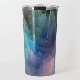 Color Burst Design Travel Mug