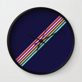 Bathala - Minimal Classic 80s Style Graphic Design Stripes Wall Clock