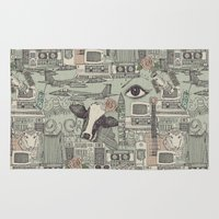 airplanes Area & Throw Rugs featuring Dolly et al by Sharon Turner