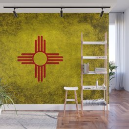 Flag of New Mexico - vintage retro style Wall Mural