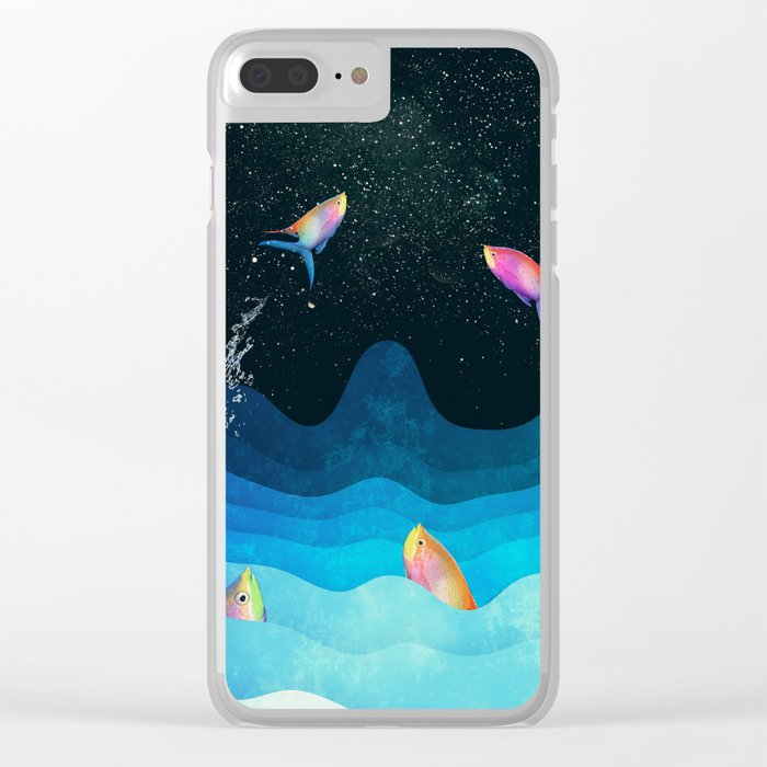 Come to reach the stars Clear iPhone Case