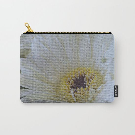White Dahlia Carry-All Pouch