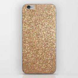 Copper Rose Gold Metallic Glitter iPhone Skin