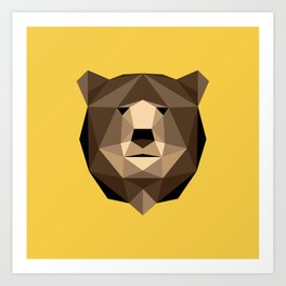 Bear // Low poly art // Animal Heads Art Print