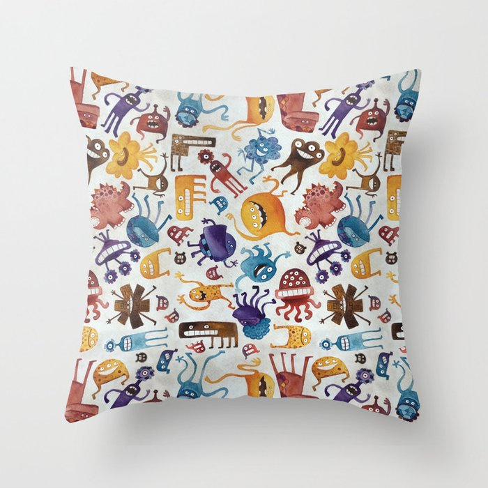 Critter Pattern 3 Throw Pillow