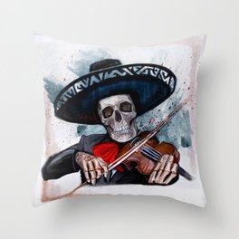 El Mariachi - Dia De Los Muertos Throw Pillow