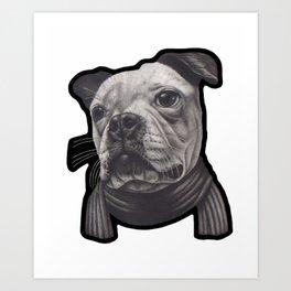 Frankie the dog Art Print