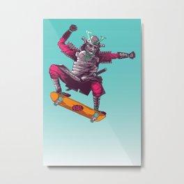 Samurai Skater Metal Print