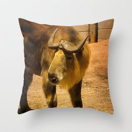 Takin Throw Pillow