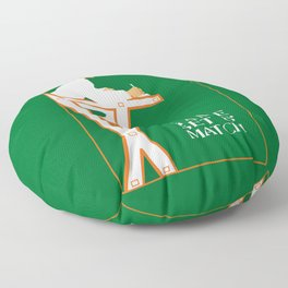 Game set and match retro tennis referee Floor Pillow