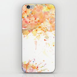 Watercolor Abstract Tree Fall Tree Golden Tree iPhone Skin