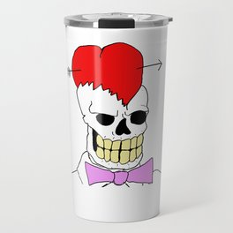 Mort Moonguts Head Cracked Open With Love. Travel Mug