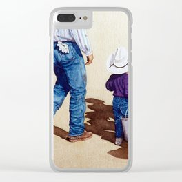 No Job Too Small Clear iPhone Case