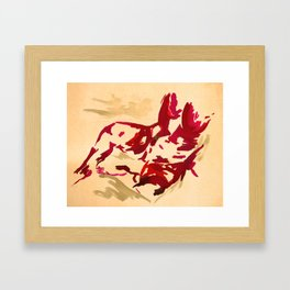 Nude in red Framed Art Print