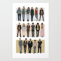 cargline Art Prints featuring Character Line Up by cargline