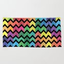 Watercolor Chevron Pattern V by uniqued