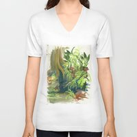 jungle V-neck T-shirts featuring Jungle by Meredith Nolan