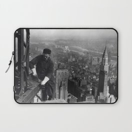Construction worker Empire State Building NYC Laptop Sleeve