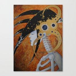 She Sleep's the Sleep of the Dead Canvas Print
