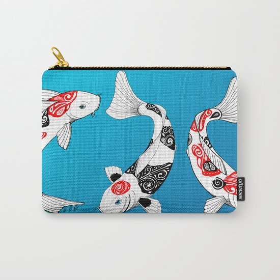 3 Koi fish Carry-All Pouch