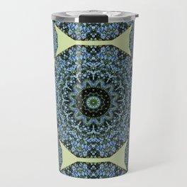 Floral mandala-style, Forget-me-nots 005.5 Travel Mug