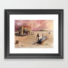 The Lone Saloon Framed Art Print