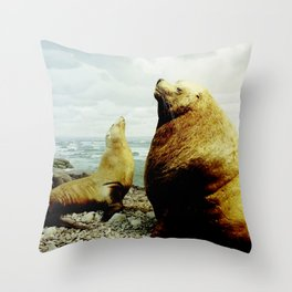 Sea Lion II Throw Pillow