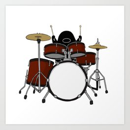 Playing The Drums Art Print