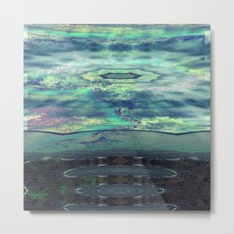 Psychedelic Stream Metal Print