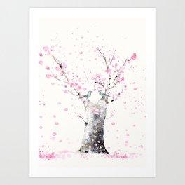 Cherry Blossoms And Birds Art Print