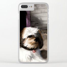 Afternoon Sentries Clear iPhone Case