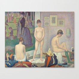 Georges Seurat - Models Canvas Print