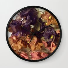 Violets From Another Time Wall Clock