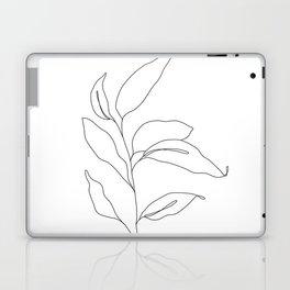 Plant one line drawing - Heidi Laptop & iPad Skin