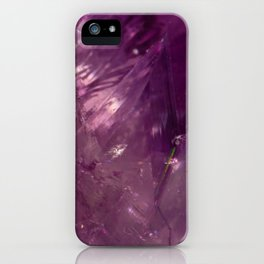 Amethyst Crystal iPhone Case