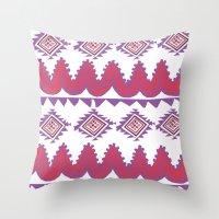mexico Throw Pillows featuring Mexico by Hannah Martin