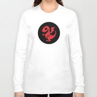 targaryen Long Sleeve T-shirts featuring Modern Dragon Sigil by Arne AKA Ratscape