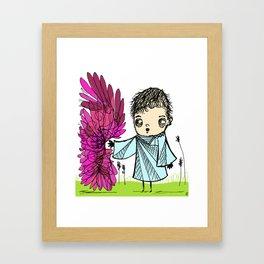 all of a sudden-flowers Framed Art Print