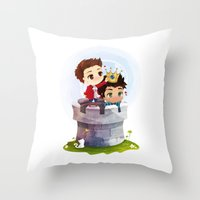 derek hale Throw Pillows featuring Hale Kingdom by siny