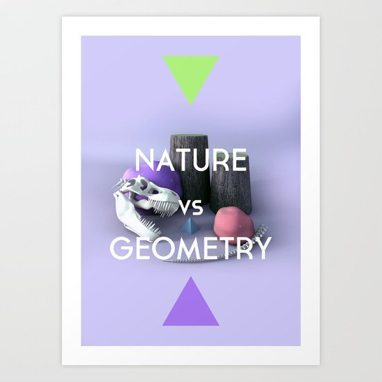 Nature vs Geometry Art Print