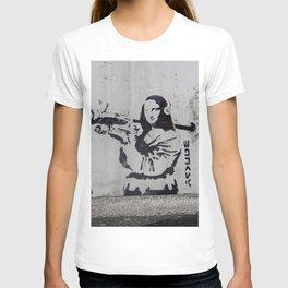 mona lisa - banksy T-shirt