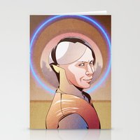 fifth element Stationery Cards featuring Chaos (Zorg - The Fifth Element) by Pana Stamos