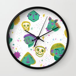 Faces in the night sky. Wall Clock