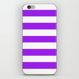 Veronica -  solid color - white stripes pattern iPhone Skin