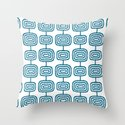 Mid Century Modern Atomic Rings Pattern Peacock Blue 3 by tonymagner
