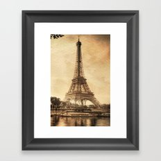 Vintage Eiffel Tower 2 Framed Art Print