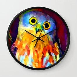Barking Owl Wall Clock