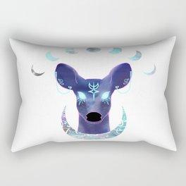 The Moon and the Doe Rectangular Pillow