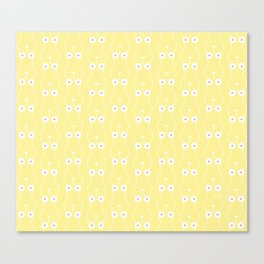Boobs on Repeat | Lemon Yellow Canvas Print